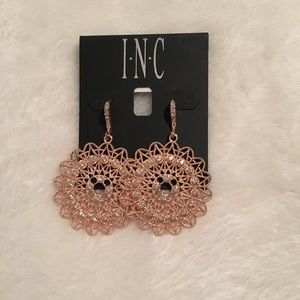 INC Rose Goldtone Earrings, nwt